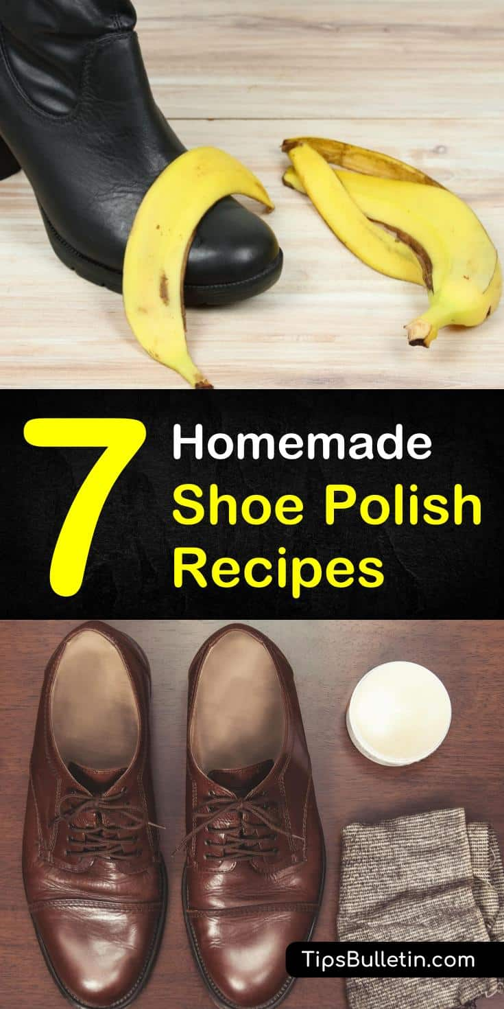 Discover how to make diy shoe polish using ingredients like baking soda, olive oils, and banana peels. Create an excellent homemade shoe polish recipe to apply to your leather couches, shoes, and boots. #shoepolish #homemade