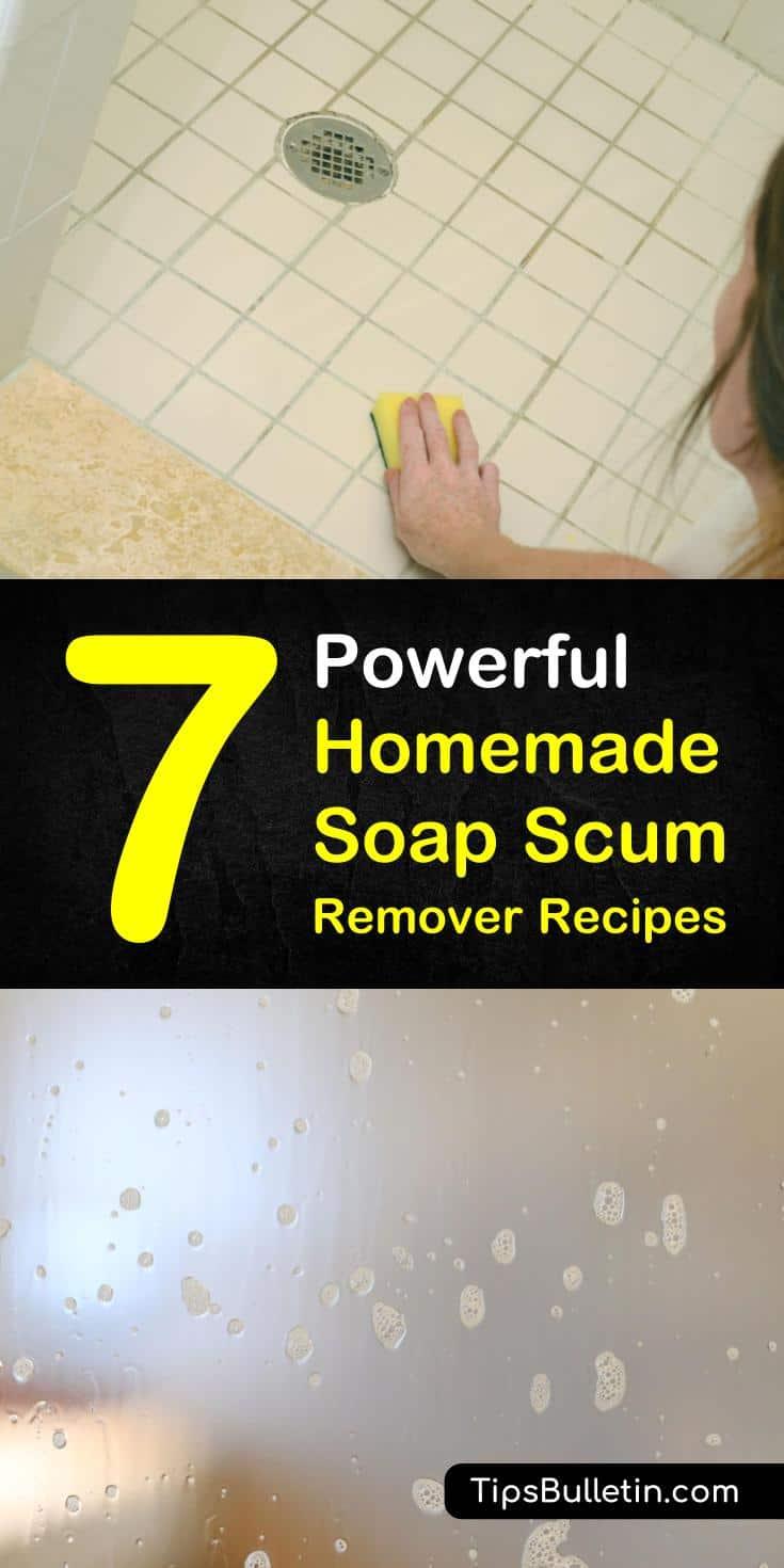 7 Homemade Soap Scum Remover Recipes