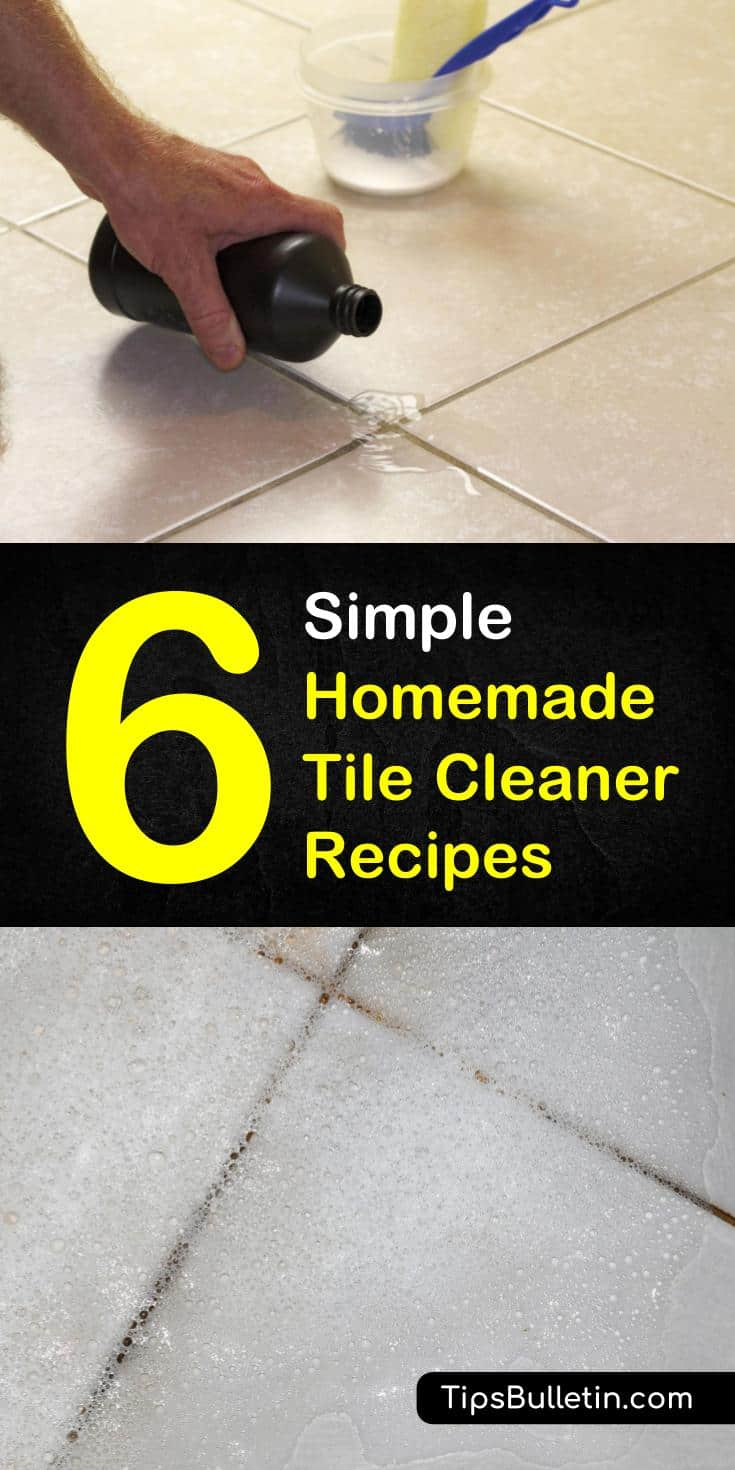 Find out how something as simple as cleaning your tiles can make your bathroom or kitchen looking brand new! You can use plenty of ingredients found around the house to make your own homemade tile cleaner. #tilecleaner #tilefloors #tiles