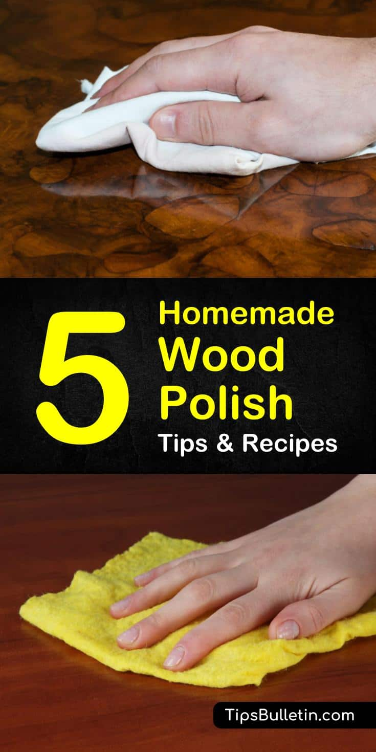 Learn how to make your wood floors and surfaces shine with these various homemade wood polish recipes! You'll be able to make your floors, cabinets, and furniture look good as new with these simple DIY wood polish ideas. #woodpolish #DIYwoodpolish #polishing #wood