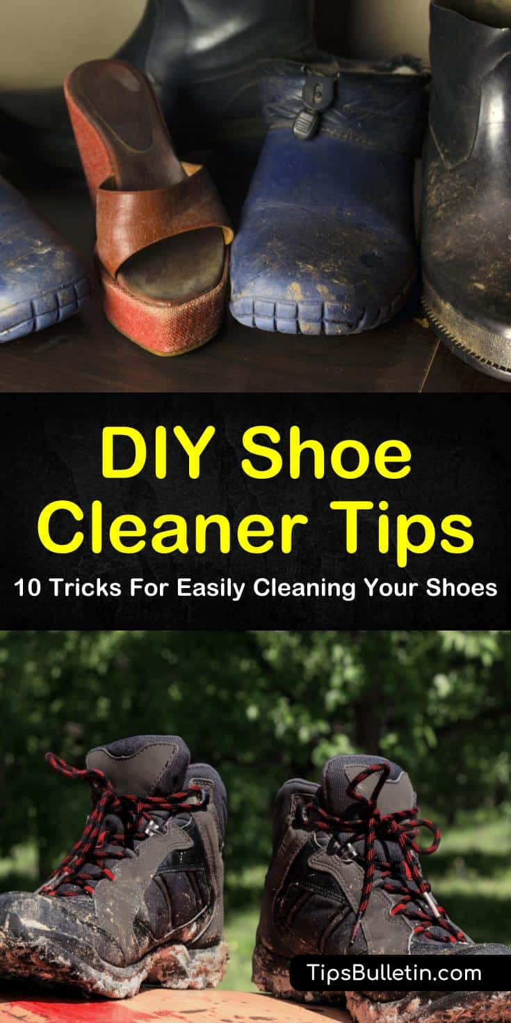Bring your Jordans back to white! Remove stains from Vans, Nike, Jordans, Converse, and other sneakers! Learn how to clean suede, mesh, and leather shoes with our 10 tricks for easily cleaning your shoes with DIY shoe cleaner. #shoes #cleaning #shoepolish