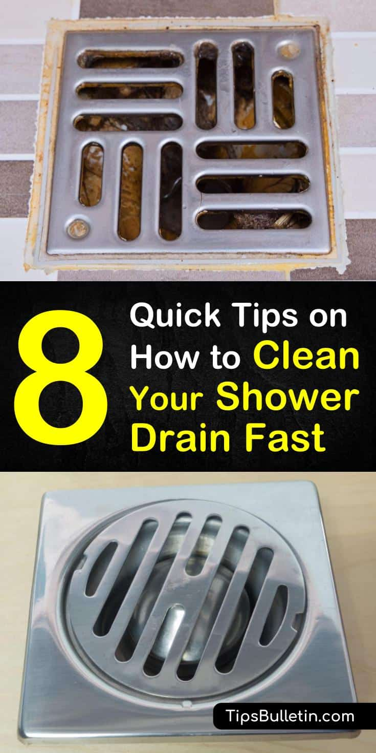 Learn how to clean a shower drain and get rid of clogs caused by hair and soap scum quickly and safely. Read on to find out how to clean the pipes in your showers and sinks with natural ingredients such as baking soda and vinegar. #drains #showers #clogs #plumbing