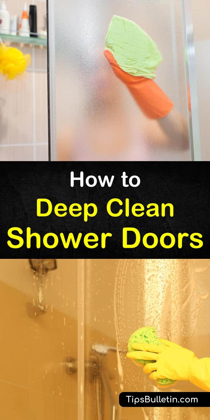 Tired of soap scum or hard water stains on your otherwise clean shower doors? Learn how to get rid of these stains for good with our easy to follow recipes for how to clean shower doors. #clean #shower #doors
