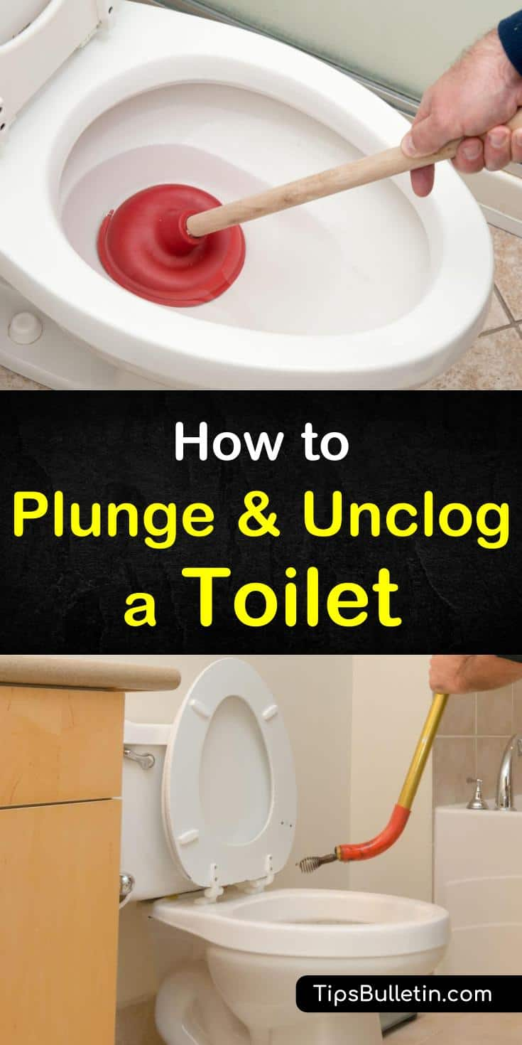 If you consider yourself the family handyman, it's important to learn how to plunge a toilet properly using a toilet plunger. You can also get rid of a toilet clog without a plunger by using baking soda without damaging your plumbing. #toilet #plunger #clogs