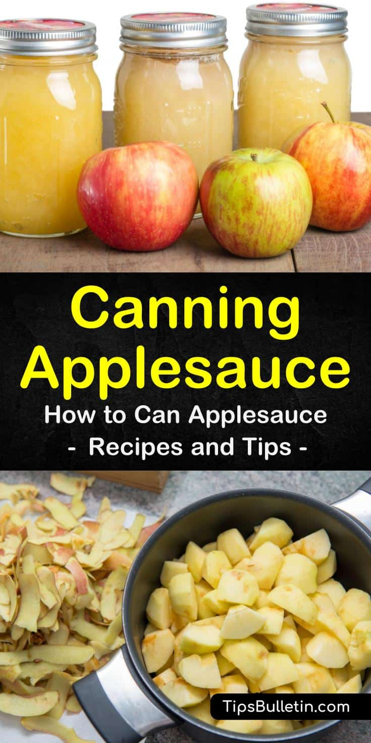 Discover how easy canning applesauce can be with a water bath or without a canner in an instant pot or crockpot. Our guide gives you a great apple sauce recipe with cinnamon and no sugar and will have you canning like a pioneer woman! #apples #canning