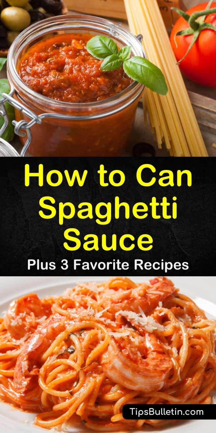 Canning spaghetti sauce with meat is simple when using one of our tasty pressure cooker recipes. Our recipes use only fresh ingredients to bring you a flavor not found in a jar. #spaghetttisauce #canning #spaghetti