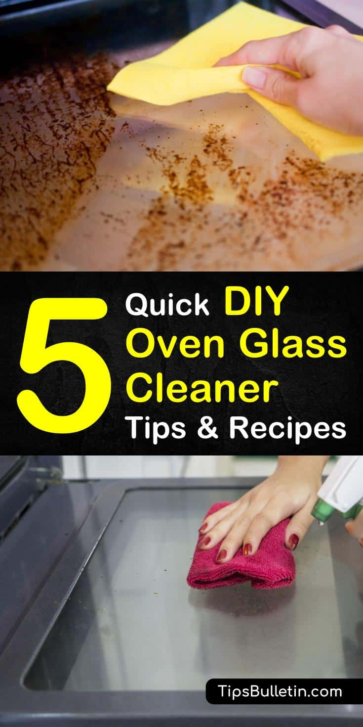 Spring cleaning kitchens doesn't have to be hard. Learn how simple it is to clean oven glass with one of our DIY recipes using baking soda and water. #ovenglass #oven #glass #cleaner #homemadecleaners