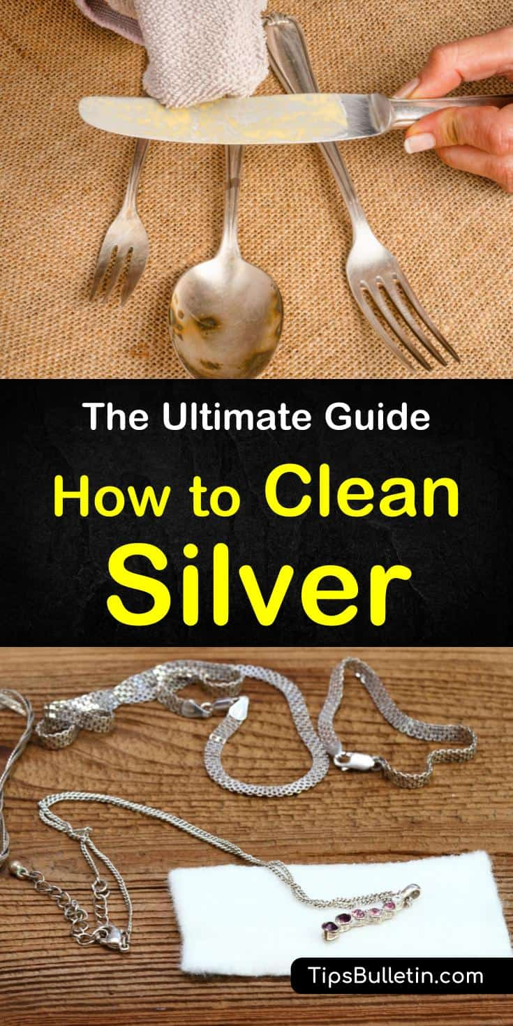 Discover how to clean silver and easily remove tarnish. You can naturally clean your silver with baking soda and other common household products like vinegar. Clean your sterling silver jewelry with ketchup and other DIY cleaning solutions. #cleansilver #removetarnish #cleansilvernaturally