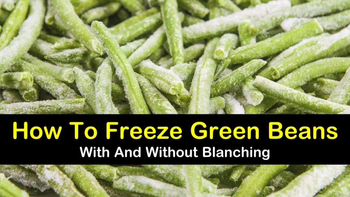 2 Amazing Ways To Freeze Green Beans