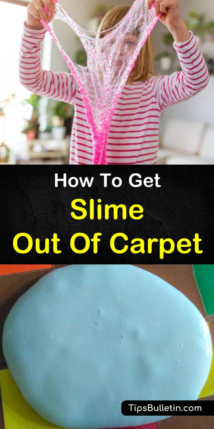 Discover how to get slime out of carpet! Our guide gives you cleaning tips on cleaning slime without vinegar or baking soda. Our stain removers use water and other DIY cleaner and leave your carpet beautiful and slime-free. #slime #carpet #cleaning