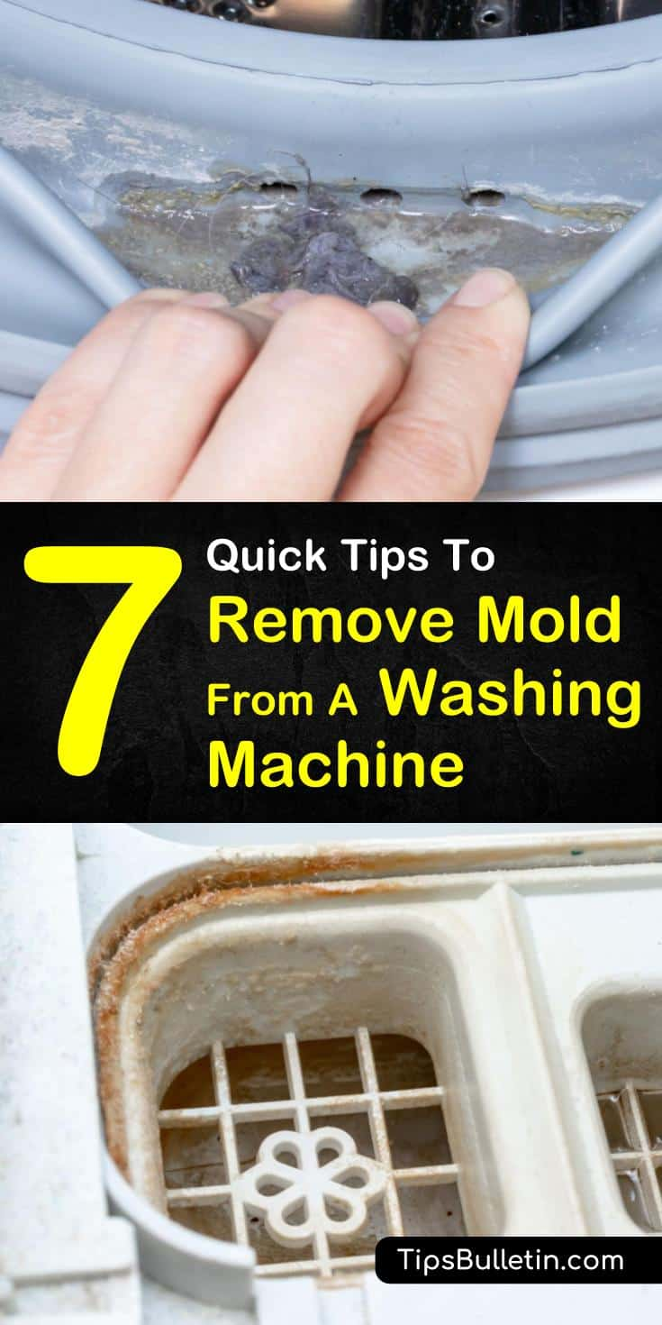Discover how to remove mold from washing machine. With simple tricks and household ingredients, you can get your washing machine free of mold and learn how to keep it that way. #washingmachine #laundry #mold #mildew