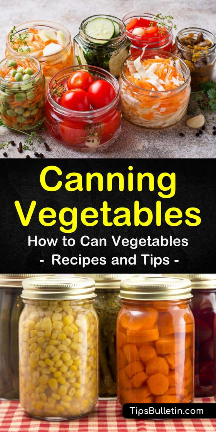 Learn about canning vegetables, which ones are the best to can and how to can vegetables. Find out which canned veggies are best for beginners to try. Try a delicious recipe for pasta fagioli soup using canned vegetables. #canning #vegetables #souprecipes