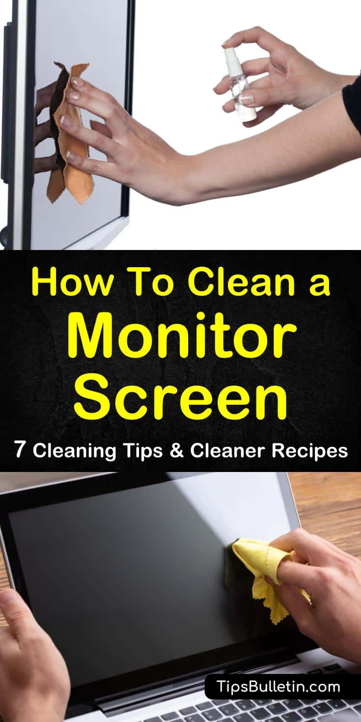 Learn how to clean a monitor screen without driving yourself crazy. Our guide shows you how to get the screens of your TVs, computers, and smartphones looking like new. Your home office will shine! #clean #monitor #screen