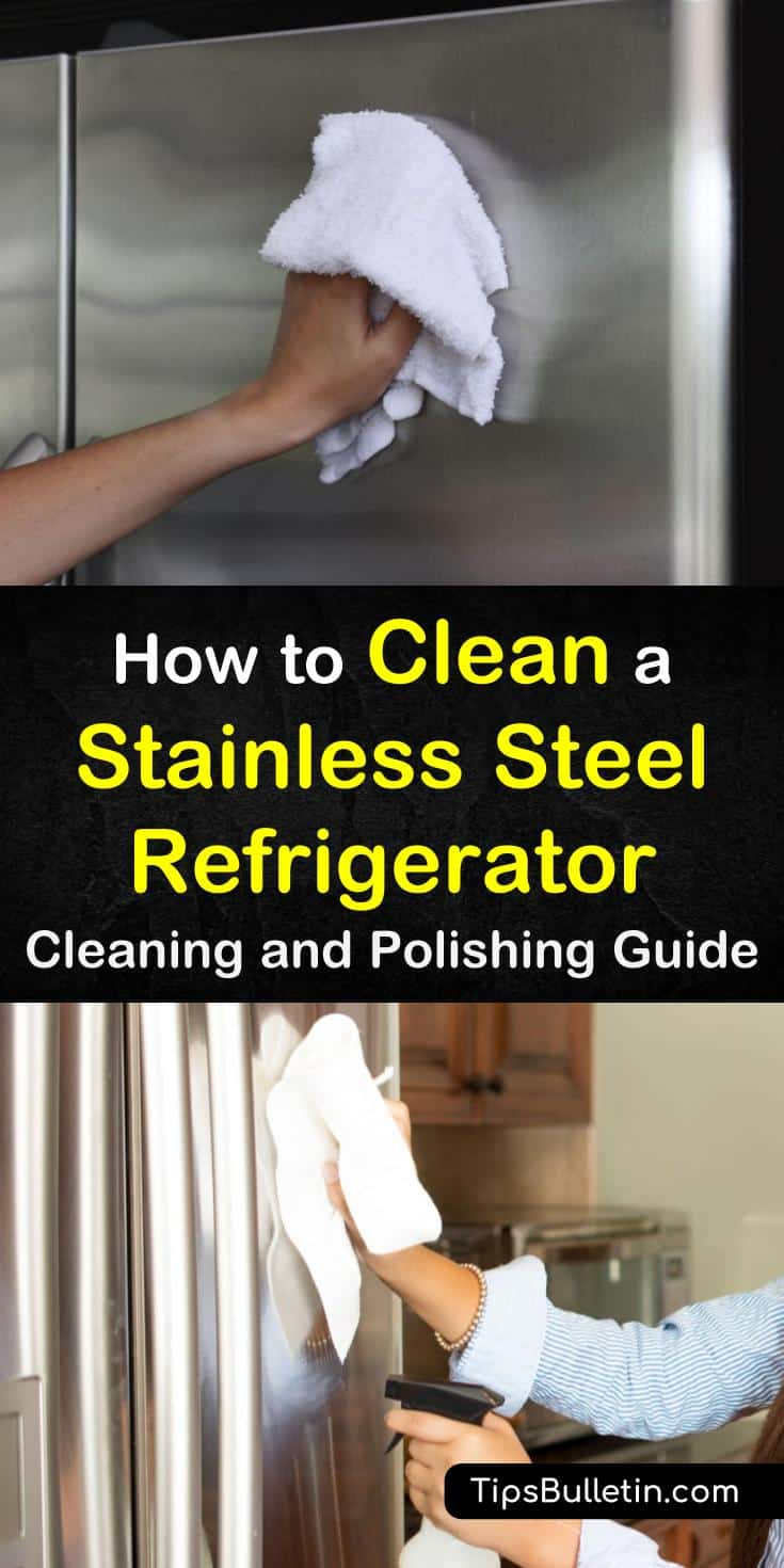 Stainless steel appliances look nice, but they take a lot of work to keep clean. Learn how to remove fingerprints from refrigerators using olive oils and vinegar as your main cleaning products. #cleaning #stainlesssteel #fridge