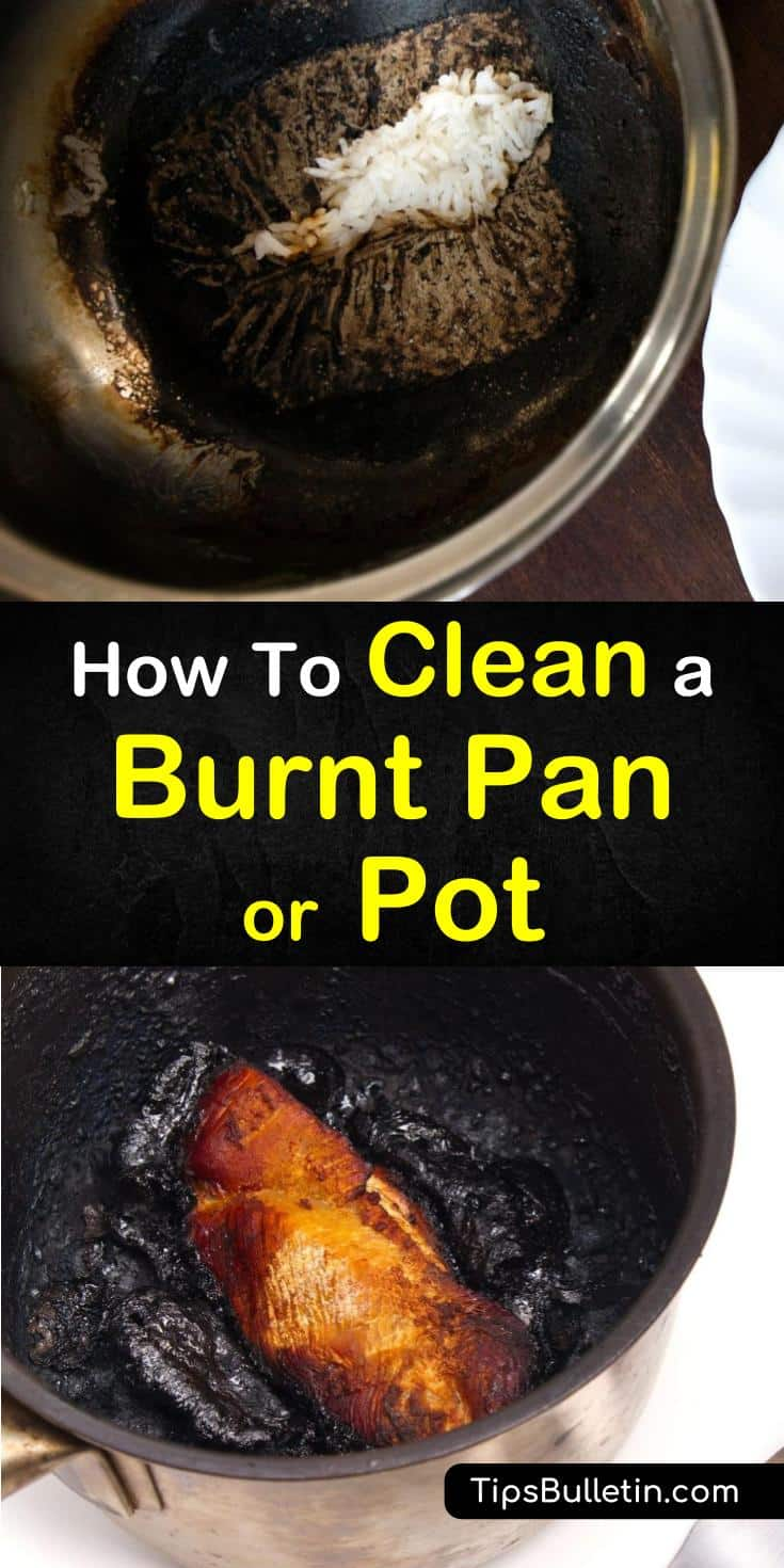 Learn how to clean a burnt pan using simple ingredients like baking soda, vinegar, or dryer sheets. Find out which methods work best for aluminum, stainless steel, or cast iron metals. Try these 7 easy methods separately or in combination. #clean #burnt #pan