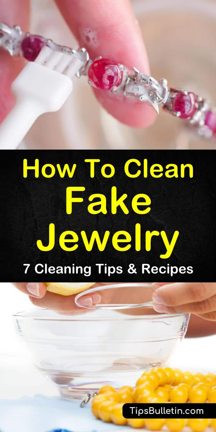 Learn how you can remove tarnish from fake silver and gold jewelry! These tips and recipes are easy to make at home and will have your rings, bracelets, and necklaces as good as new. #jewelry #cleaning #fakejewelry