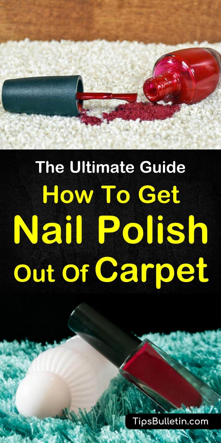 Find out how to remove nail polish stains from carpet with our guide. We show you awesome methods of removing carpet stains using alcohol and other household cleaners. You'll be astounded at the difference a clean carpet can make! #carpet #nailpolish