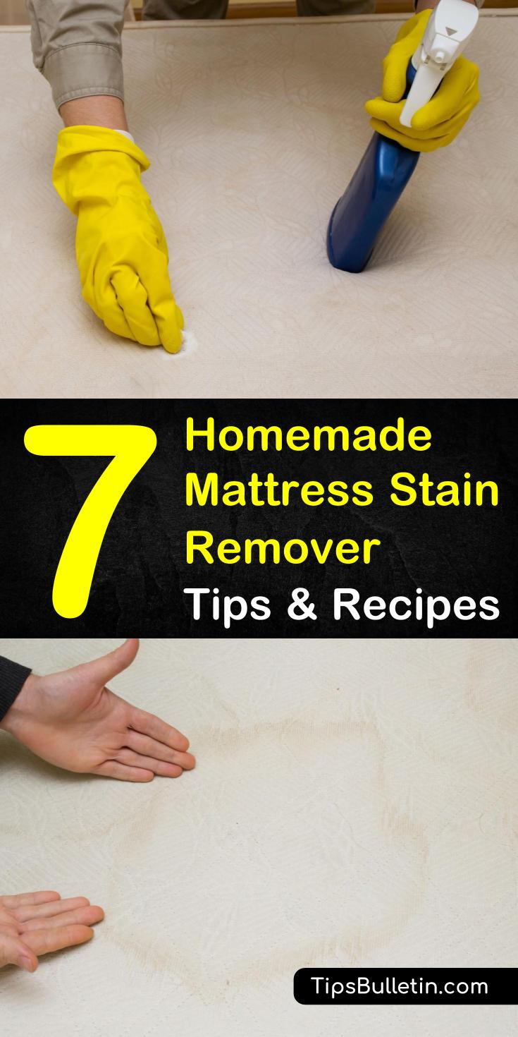 Discover the secrets to cleaning your mattress stains with ingredients in your own home! From urine smells, dried blood, and stains from pets, our tips, and DIY recipes will have your mattress looking spotless. #mattressstainremover #stains #mattresscleaning
