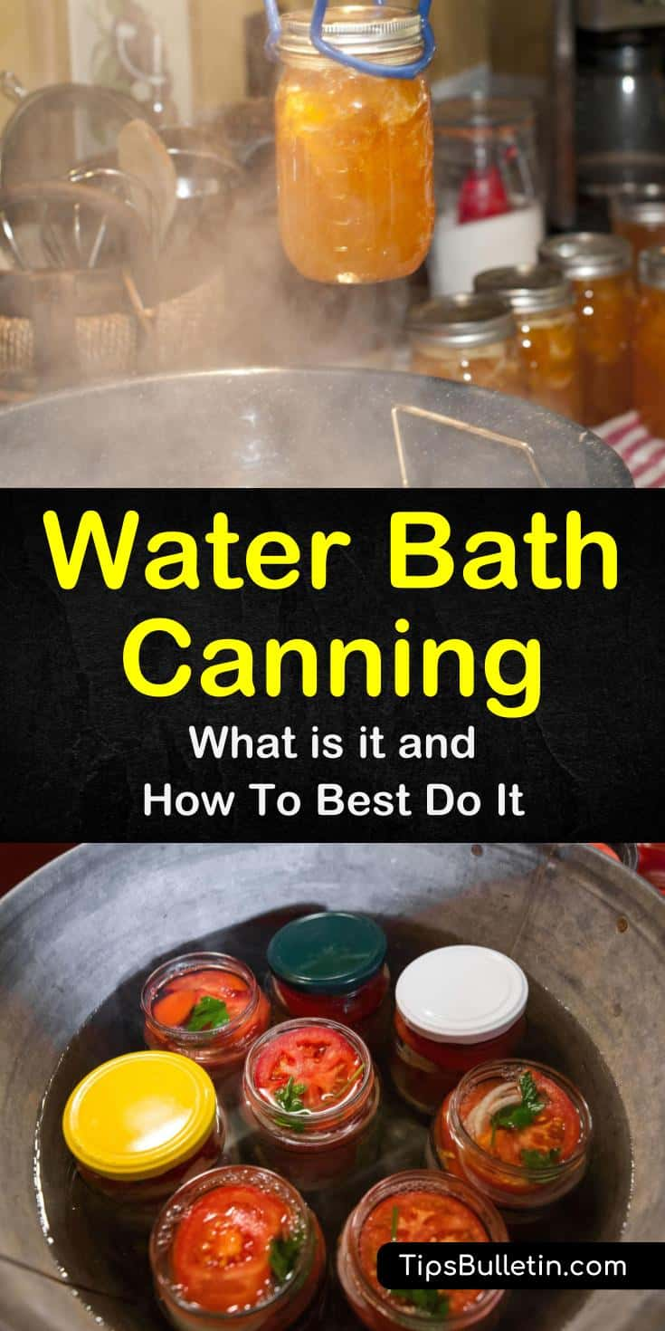 Water bath canning is the easiest canning method for beginners. With hundreds of canning recipes available online you can learn how to easy it is to use water bath canning to make your own pickles, can whole tomatoes, bottle spaghetti sauce, and so much more. #waterbathcanning