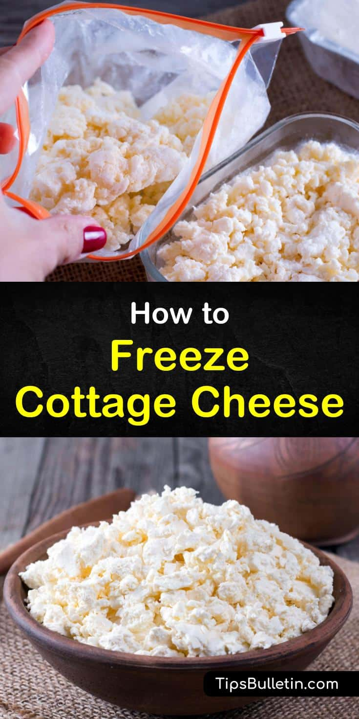 Freezing cottage cheese is possible, but it will change the taste and texture once thawed. To prevent your thawed cottage cheese from drying out you can add about a tablespoon of sour cream for each cup of cottage cheese. #cottagecheese #freezing #frozen