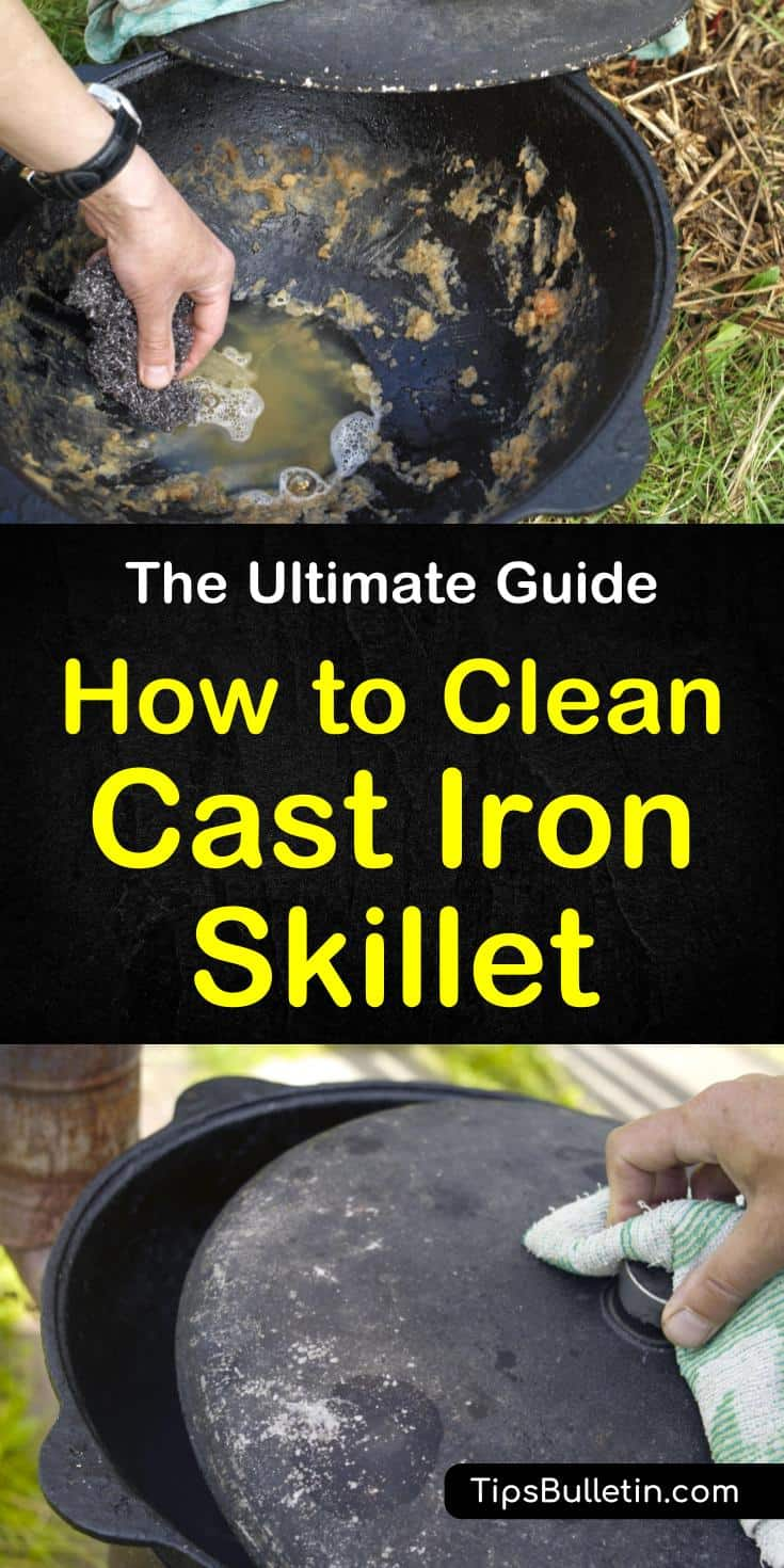 Discover how to clean a cast-iron skillet after cooking to keep it lasting for years to come. Learn how to clean rust from your cast iron cookware with salt and baking soda and enjoy its cooking benefits for years. #cleancastironskillet #cleancastiron