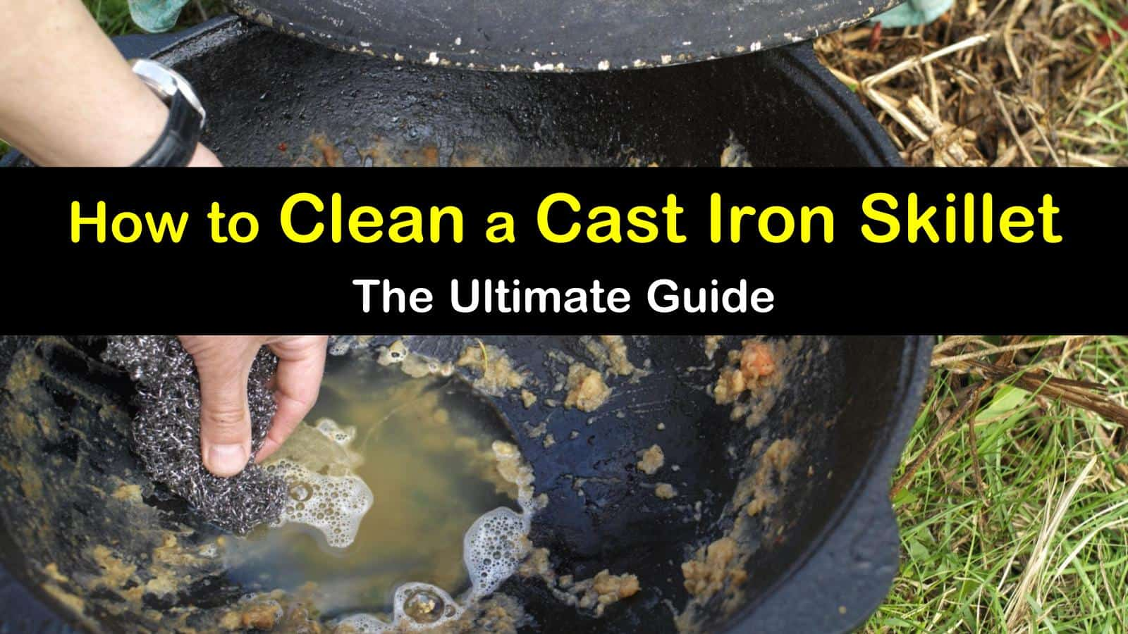 how to clean a cast iron skillet titleimg1