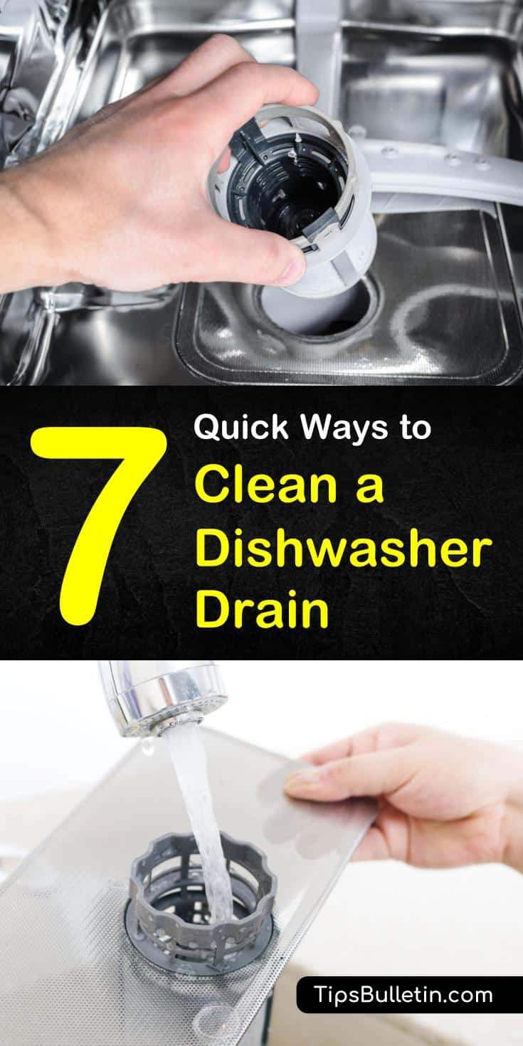 Believe it or not but dishwashers need a thorough cleaning themselves. Here are some handy tips for cleaning those washing machines with baking soda, vinegar, and water. #clogged #dishwasher #drain