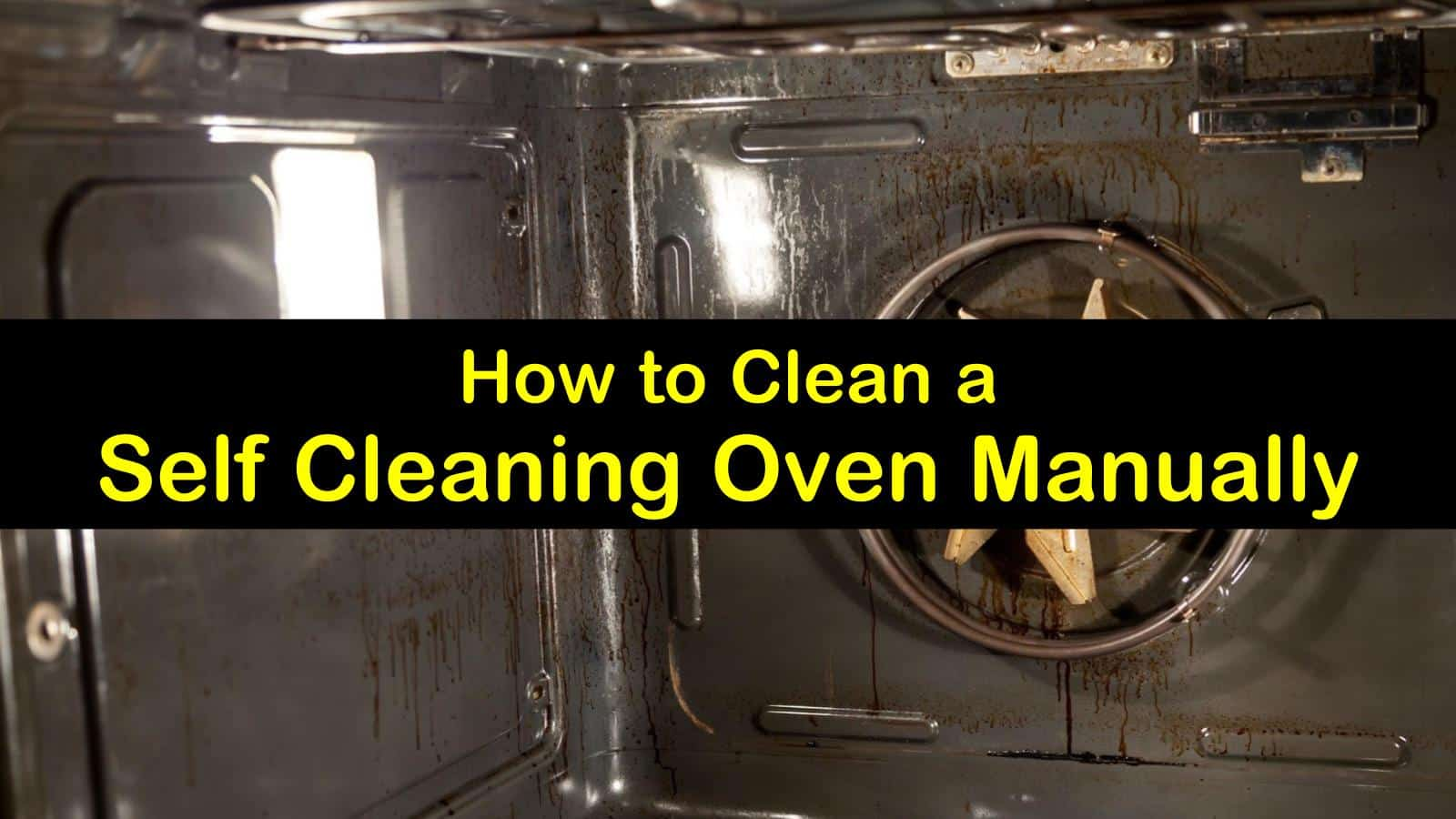 how to clean a self-cleaning oven manually titleimg1