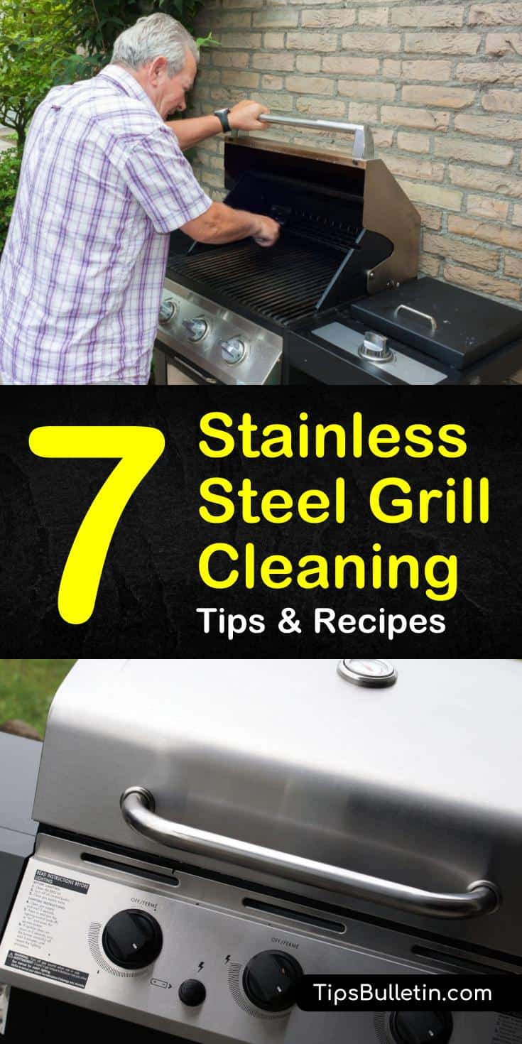 By using some of our cleaning tips you can learn how to clean a stainless steel grill to bring the life back into your backyard BBQ. It is to use common household ingredients to clean your stainless steel grill and have it looking like new again. #stainlesssteel #grillcleaning #cleangrill