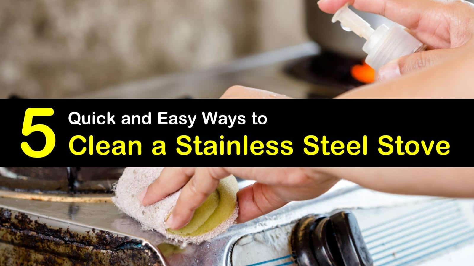 how to clean a stainless steel stove titleimg1