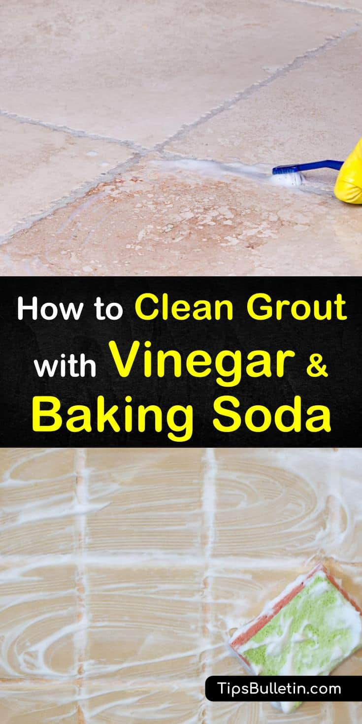 Check out our handy DIY remedies for grout scrubs. We have great tips for the bathroom, kitchen, laundry room, and anywhere your home has tile. You can easily remove that nasty mildew, mold, and gunk from grout. #cleaninggrout #diygroutcleaning #bakingsoda #vinegar