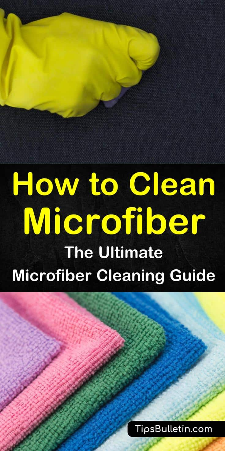 Learn how to clean microfiber cloths, chairs, and other microfiber furniture. Try these simple cleaning tips on your microfiber products for a deep clean. Discover some DIY microfiber cleaners to suit every microfiber item in your home. #clean #microfiber #cloths #furniture