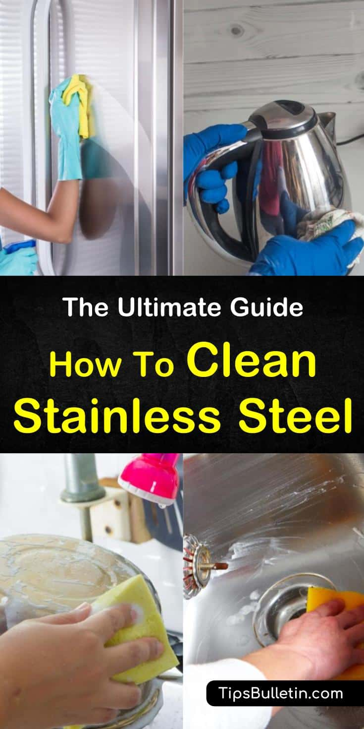 Learn how to clean stainless steel with lemon oils and vinegar. Find step by step instructions for how to clean a stainless steel sink, fridge, and other appliances. Discover the best methods to treat rust, hard water stains, and routine cleanings. #clean #stainless #steel #appliances #jewelry