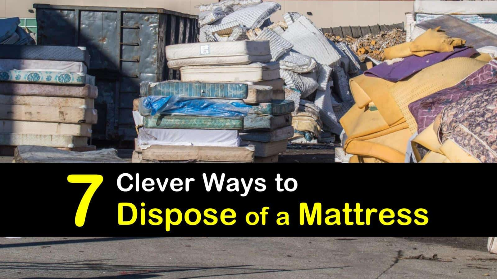 how to dispose of a mattress titleimg1