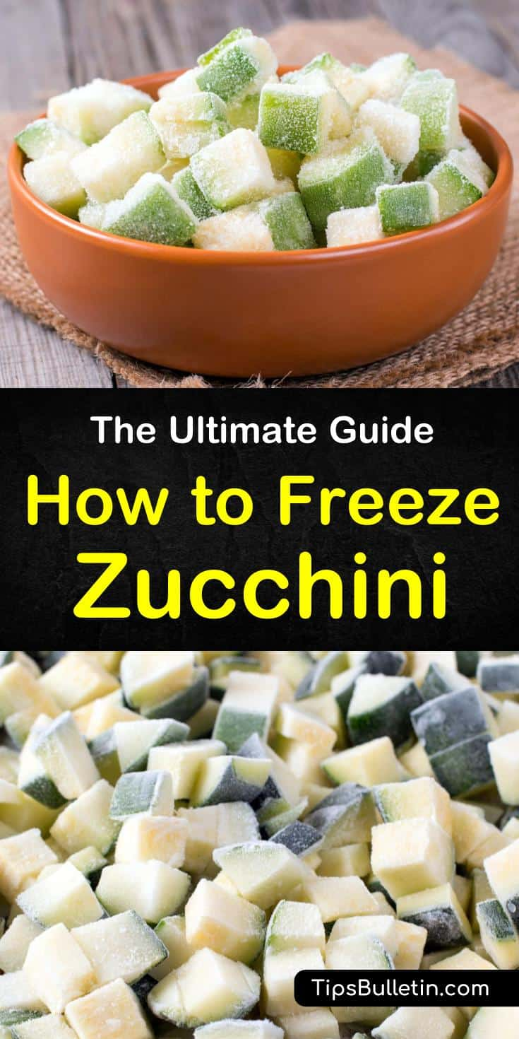 Learn how to freeze zucchini and squash without blanching. Our guide shows you how to freeze zucchini slices and squashes for bread recipes. We'll help you bring healthy summer gardens to your winter table. #zucchini #freezing #squash