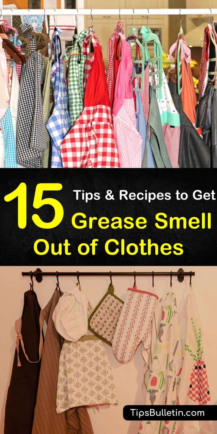 Discover 15 amazing home remedies for getting grease smell out of clothes. If your clothes smell like a dirty fryer, you can use simple, everyday ingredients like baking soda, essential oils, and hydrogen peroxide to remove stains and odors. #grease #smelly #clothes