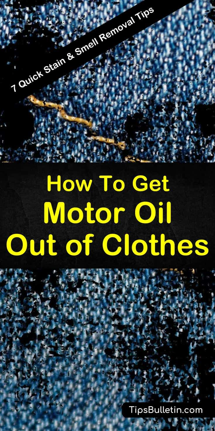 Learn how to remove oil and grease stains on shirts. You will eradicate any motor oil stains by using baking soda and hydrogen peroxide. These living essentials will make your life easier. #motoroil #stains #clothes