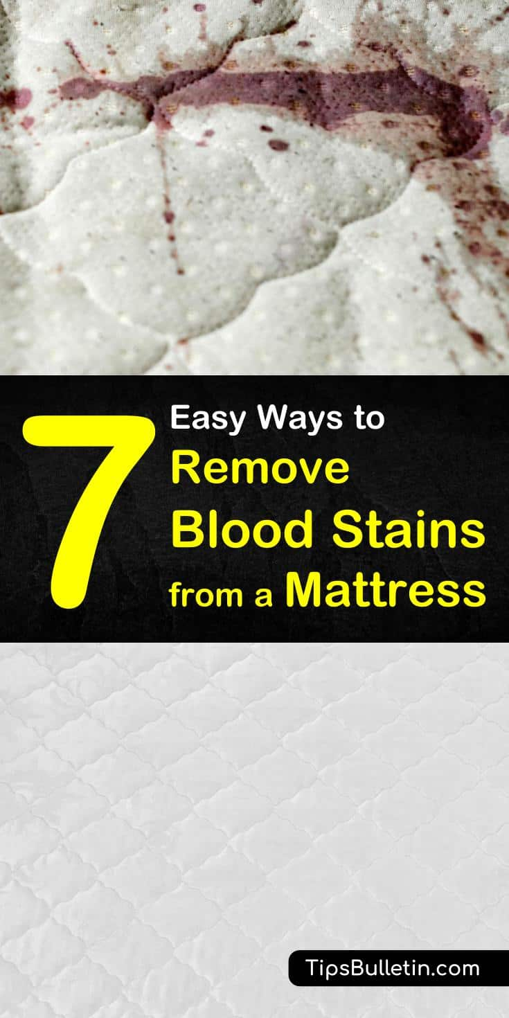 Try these effective solutions for how to remove blood stains from a mattress. Learn how to use everyday cleaning products like baking soda and hydrogen peroxide to erase stains. Find out which methods work best to make blood spots caused my bed bugs disappear. #remove #blood #stains #mattress