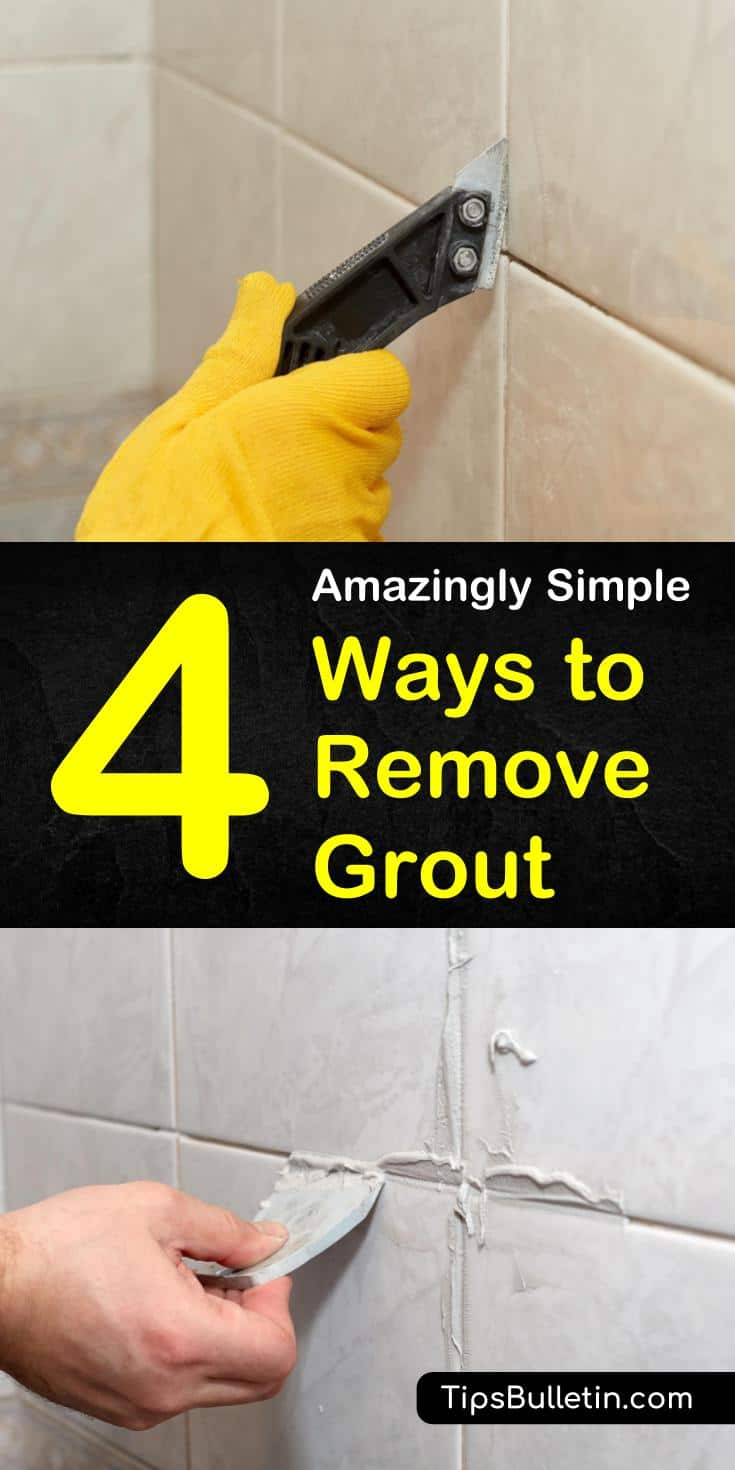 If your grout has become dingy, you may want to learn how to remove grout so that you can put some bright new grout in its place. Take note of these expert tips to do it the right way. #grout #removegrout #groutremoval