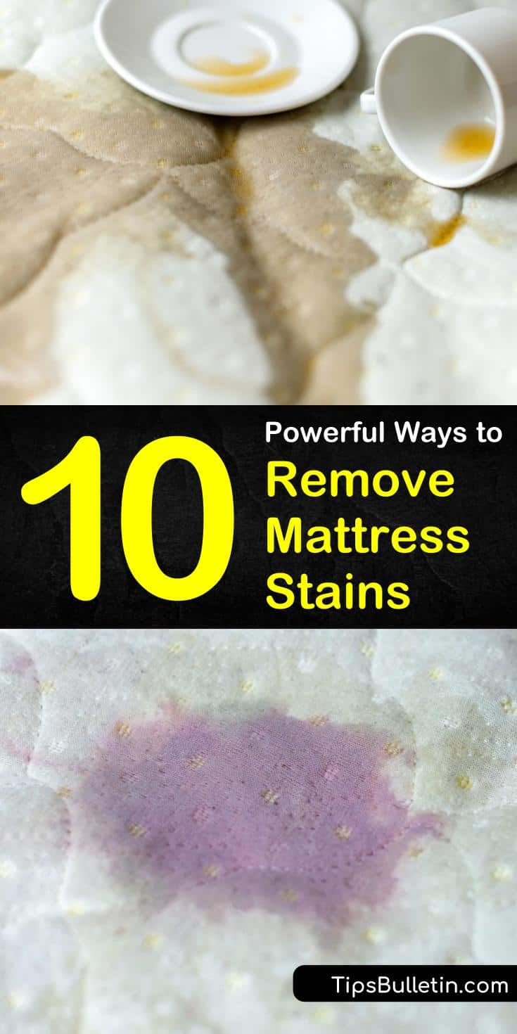 Learn how to remove mattress stains or blood with ingredients like hydrogen peroxide and baking soda. #mattressstains #removemattressstain #stain