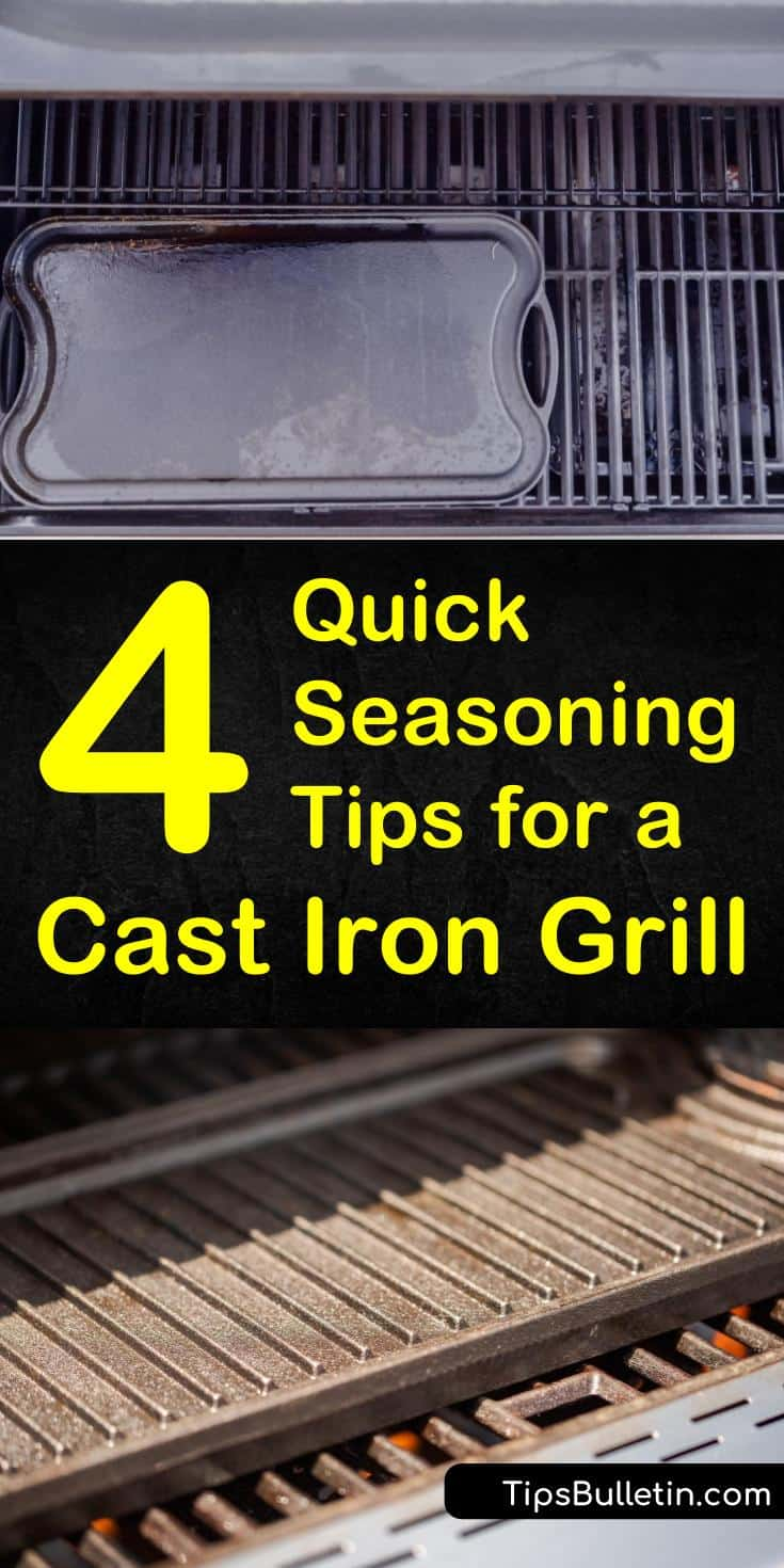 Learn how to season your cast iron grill so that you can get the perfect steak every time! Using olive oils, shortening, or lard and a little heat, you can make sure your BBQ has a smooth non-stick surface. #bbq #grillseasoning #season #castirongrill