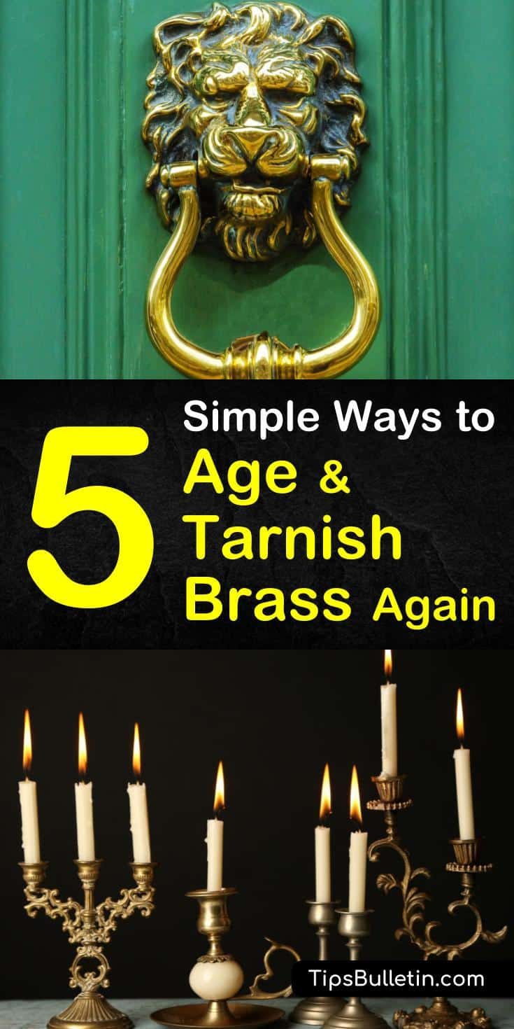 Discover the best options for how to tarnish brass using supplies like vinegar, ammonia, and paint. Find out how to remove lacquer from brass before cleaning and aging brass. Use these 5 amazing solutions on your brass cuff bracelets, rings, and brass fixtures. #tarnish #brass #antique #aged