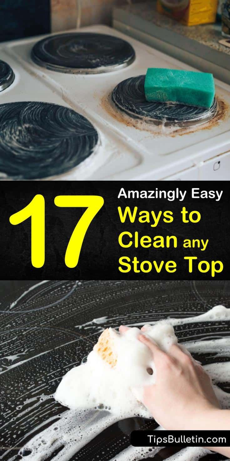 Our guide shows you the best ways to clean a stove top and get rid of bad house smells. Learn all about how to remove grime and rust from your stove and oven. You'll discover how to clean your stainless steel stove with baking soda and make your home shine. #stovetopcleaning #clean #stove