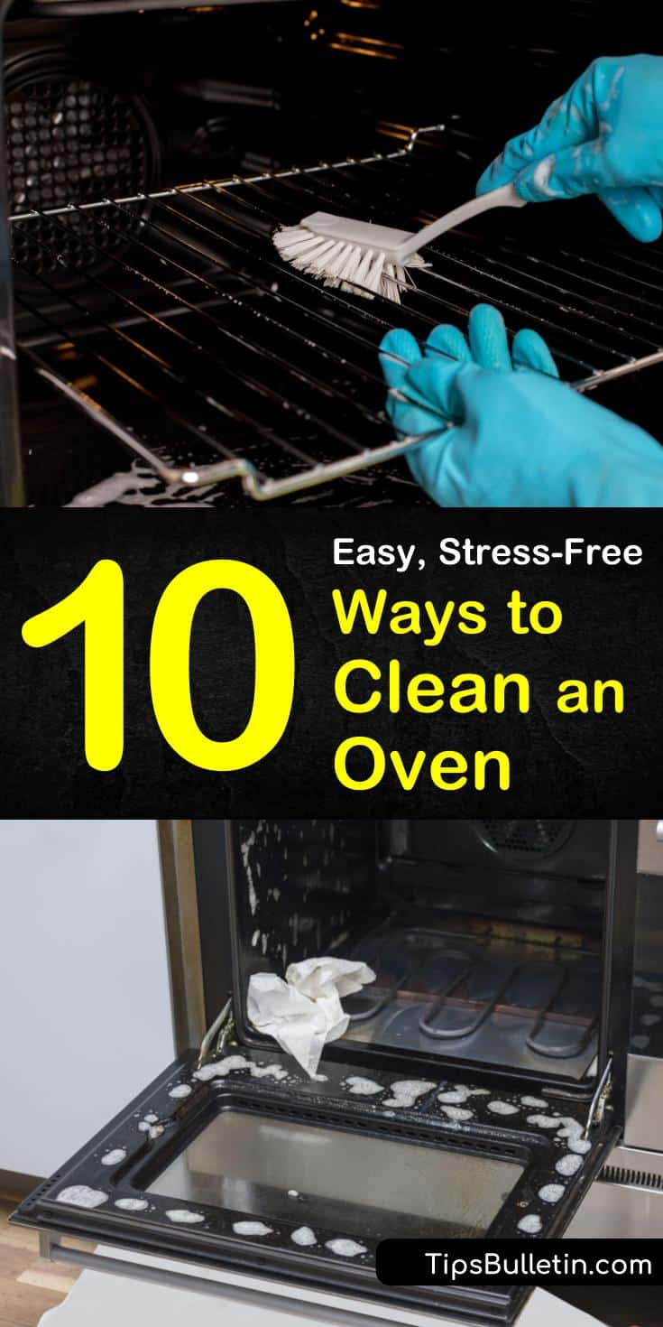 Learn different ways to clean an oven, whether with baking soda, hydrogen peroxide, or vinegar. Follow these fast and easy tips for the best way to clean your oven doors and grates. Try natural DIY cleaning solutions that you can make at home. #clean #oven #diy