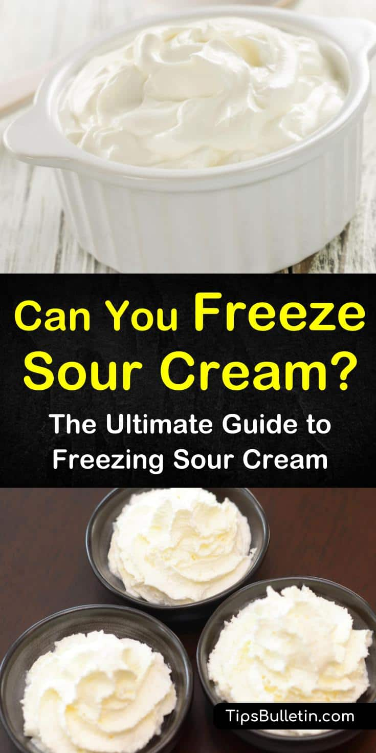 How can you freeze sour cream without it looking like cottage cheese. Learn how in this easy guide, complete with one of our favorite recipes. Discover how to make your favorite ingredient for chicken enchiladas and baked potatoes last even longer than two short weeks. #freeze #sourcream #recipes