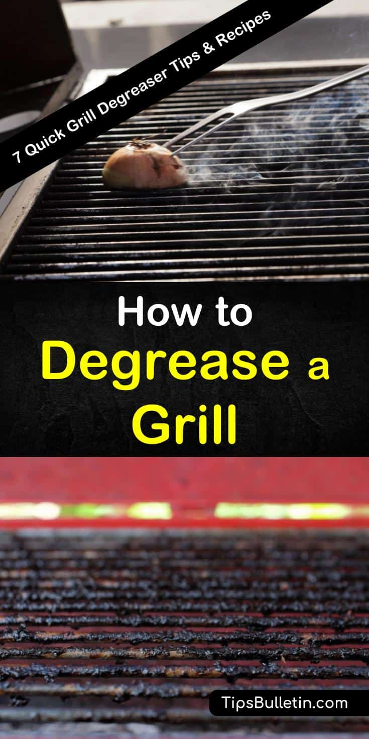 Find 7 grill degreasers for a better and cleaner barbeque. Learn how to remove grease, grime, and burnt-on foods from your kitchen and barbeque grills using DIY tips and common ingredients like baking soda, essential oils, and white vinegar. #diydegreaser #betterbarbeque #homemadegrillcleaner