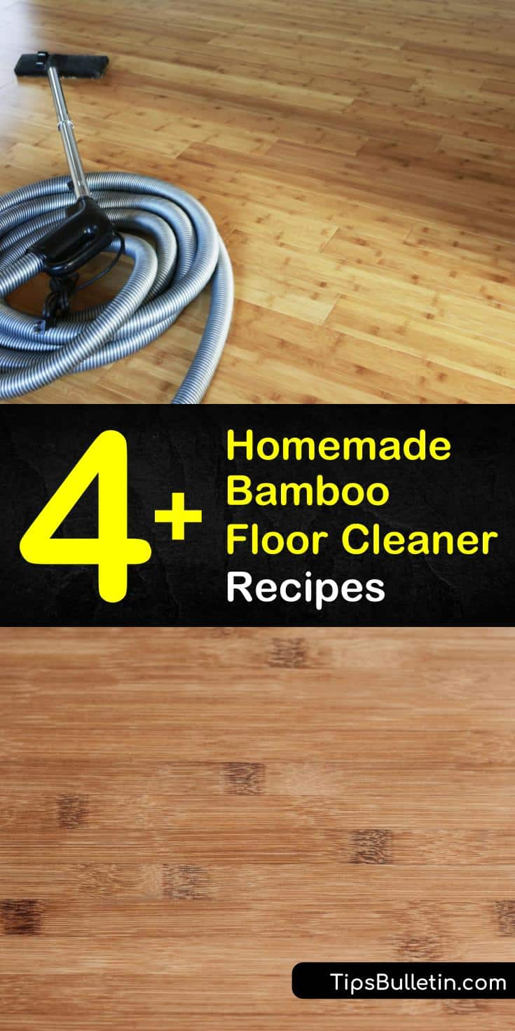 Why clean your bamboo floors with cleaning products such as Bona when you can make your own? All you need for that DIY cleaning solution is a Swiffer or dust mop, a microfiber mop, and a spray bottle. #bamboofloor #cleaner #floorcleaning