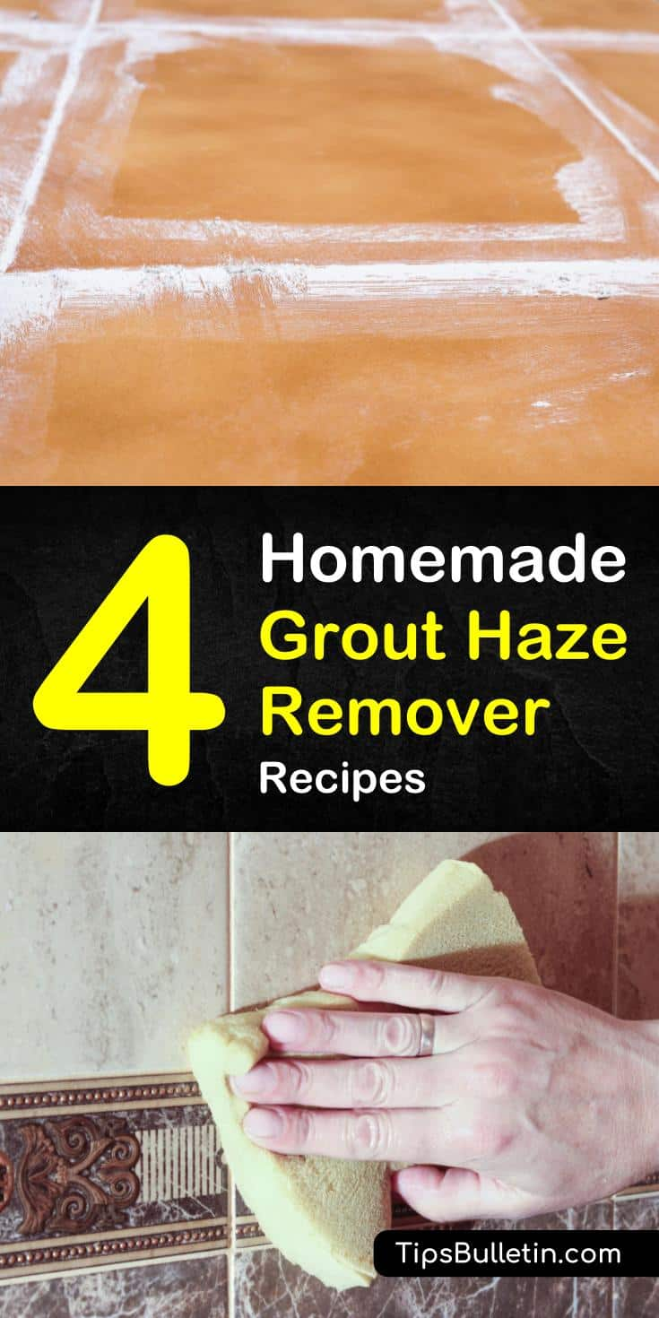 Learn how to make a homemade grout haze remover using vinegar and baking soda. Discover the best cleaning tips for tile floors and grouting. Find out what you can use on sensitive floor materials like stone and marble. #homemade #grout #haze #remover