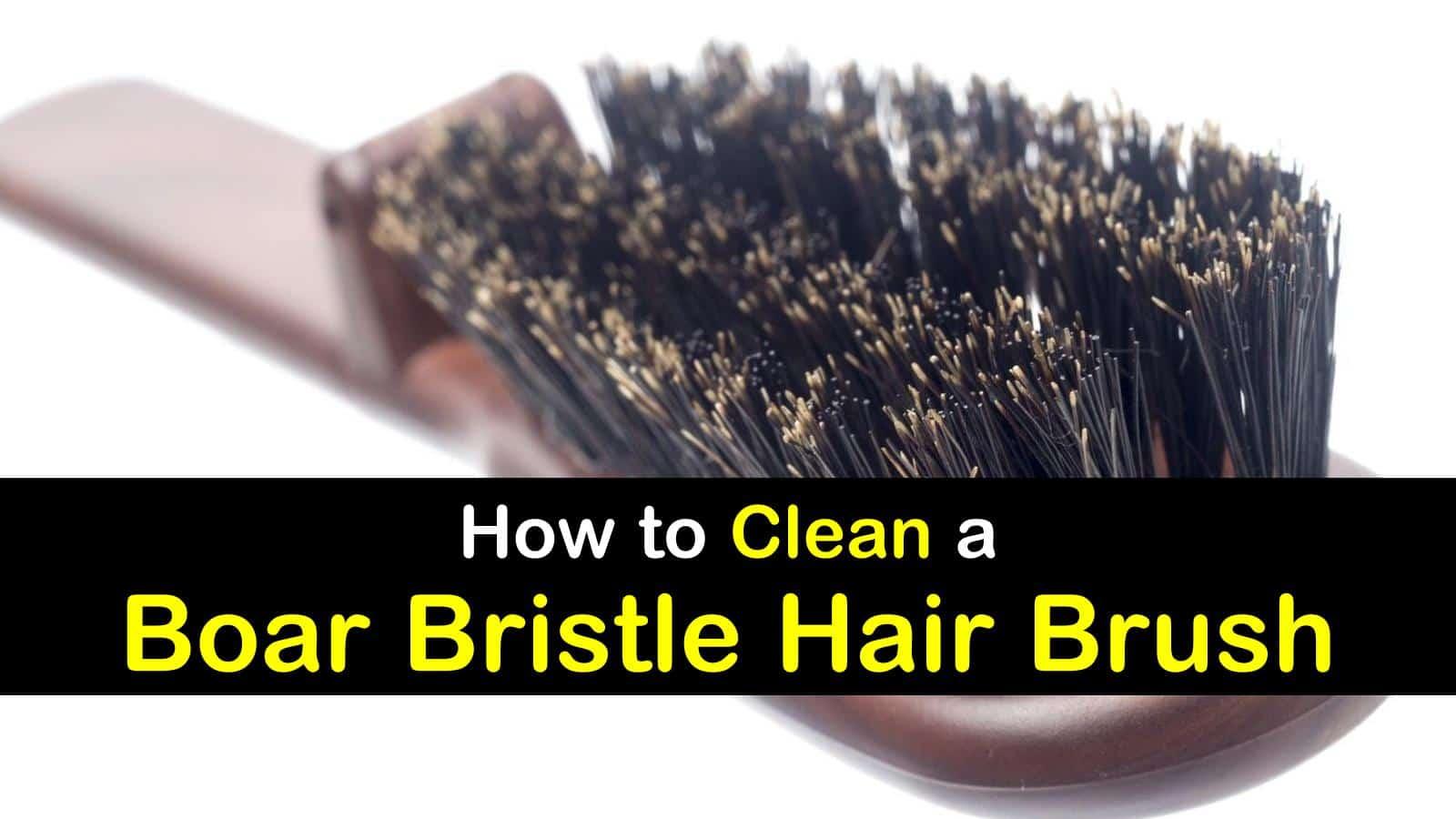 how to clean a boar bristle hair brush titleimg1