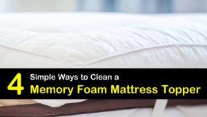 how to clean a memory foam mattress topper titleimg1